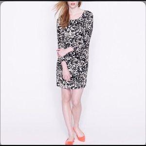 J Crew Jules Shift Dress in Snowcat Leopard Print